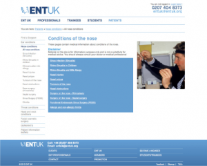 ENT UK Nose Conditions website link