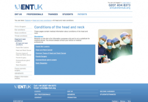 ENT UK Head & Neck Conditions website link