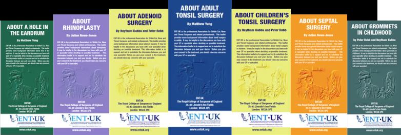 ENT UK patient leaflets download